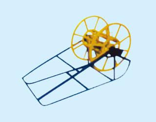 轴式牵引绳盘架